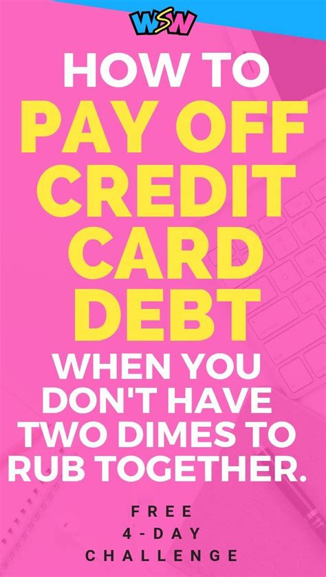 But it's possible to pay off your credit card debt—you just need a solid plan. How To Quickly Pay Off Credit Card Debt When You Have No Money - Wh | Paying off credit cards ...