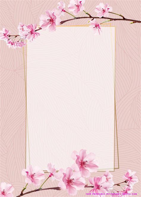 (FREE Printable) Pink Floral Invitation Templates