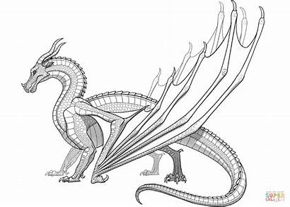Wings Coloring Skywing Dragon Fire Pages Drawing