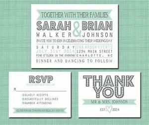 printable wedding suite invitation rsvp thank you set With wedding invitation free pick