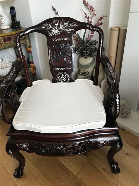 classic chinese rosewood chairs  mother  pearl
