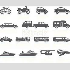 Land Air And Water Transportation Vehicles Icon Set Stock Vector Art & More Images Of Air