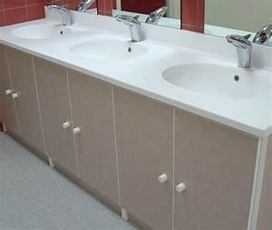 ensemble sanitaire meuble avec plan vasque lcca With meuble sanitaire
