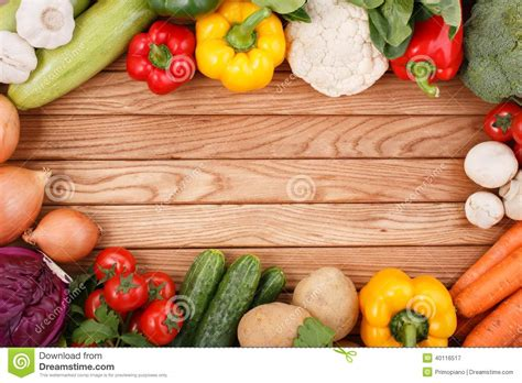 organic grub vegetables on wood background with space for text stock image image 40116517