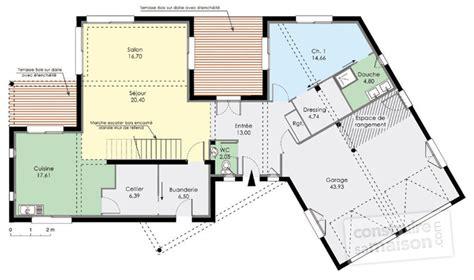 plan 4 chambres plain pied grande maison moderne hqe dé du plan de grande