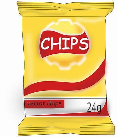 Chips Snack Junk Clipart Foods Clip Snacks