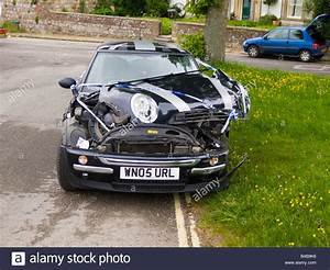 Bmw Mini Cooper After Crash Accident Stock Photo  Royalty
