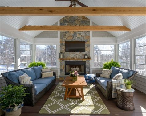 Create Blue White Sunroom by Best Ideas Of Gorgeous House With Sunroom Pictures