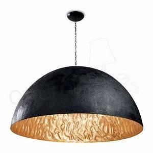 Suspension Luminaire Noir : suspension magma g noir or 29789 faro ~ Teatrodelosmanantiales.com Idées de Décoration