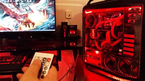 ultimate red gaming build  ddr gtx  sli youtube