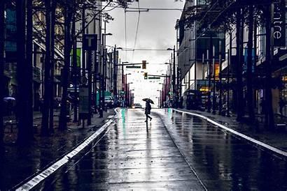 Street Rain Vancouver Raining Walking Granville Benefits