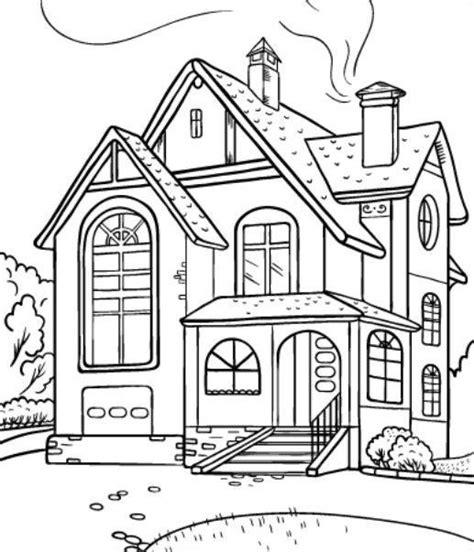 materi mewarnai gambar rumah sederhana unikcom