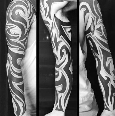 tribal sleeve tattoos  men manly arm design ideas