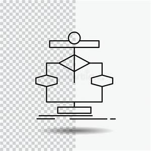 Algorithm  Chart  Data  Diagram  Flow Line Icon On