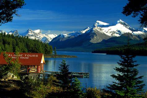 Boats Alberta by File Canada Boat House Am Maligne Lake Jasper Np Alberta