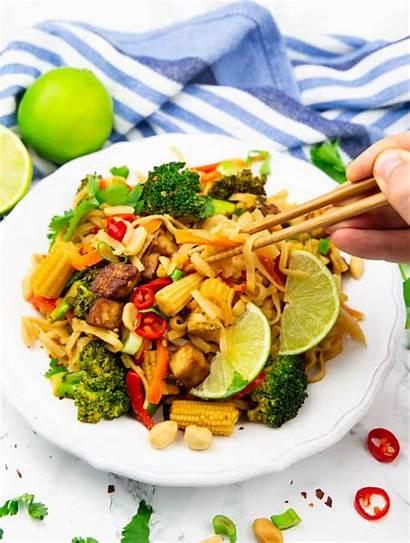 Thai Pad Vegan Heaven Background Recipe Vegetable