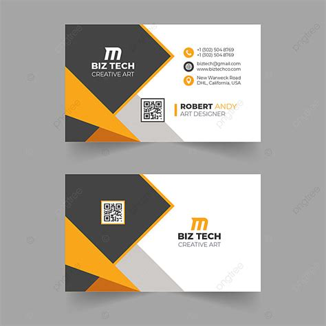 modern orange vector business card design template