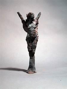 Figurative Ceramic Sculpture: Winged Figure by Basil Racheotes