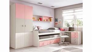 Lit De Fille : chambre ado fille astucieuse avec son lit gigogne glicerio so nuit ~ Teatrodelosmanantiales.com Idées de Décoration