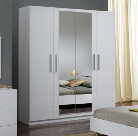 armoire chambre 4 portes armoire 4 portes gloria blanc