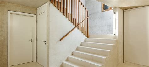 install  wood railing  concrete steps