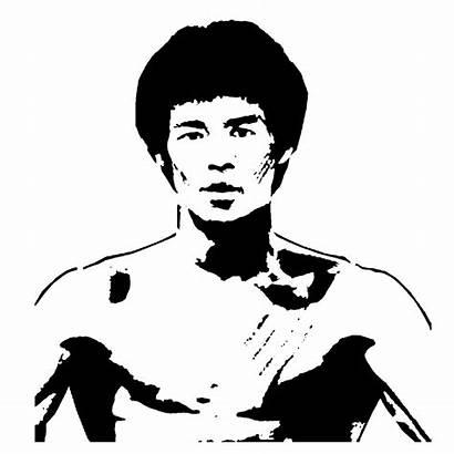 Bruce Lee Coloring Famous Stencils Graffiti Lightsaber