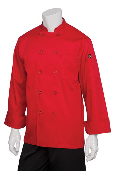 nantes red chef coat chef works