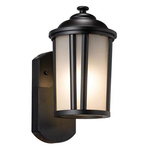 exterior wall mounted lights maximus traditional smart security companion textured