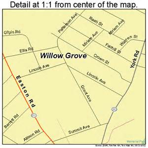 Willow Grove PA Map