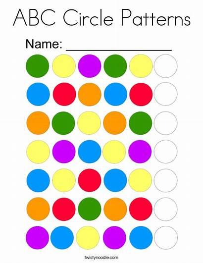 Abc Patterns Coloring Circle Pages Noodle Circles