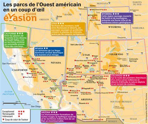Carte De Touristique Ouest by Infos Sur Ouest Americain Carte Touristique Arts Et