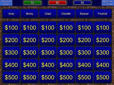 jeopardy powerpoint template