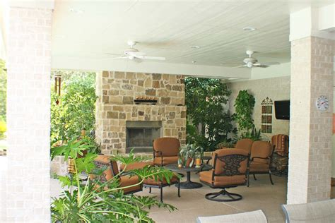 patio cover and fireplace hhi patio covers