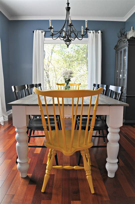 Rustic Farmhouse Dining Table ? Decor and the Dog