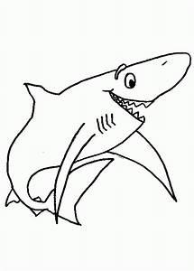 Galería de imágenes: Dibujos infantiles de tiburones para colorear