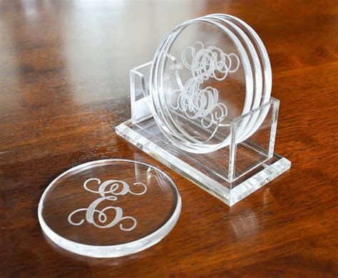 personalized acrylic coasters  etsy