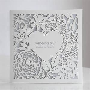 white laser cut heart floral blue wedding invitations bh With blue laser cut wedding invitations uk