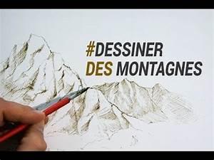 Dessin De Plume Facile : dessiner des montagnes l 39 encre et la plume youtube ~ Melissatoandfro.com Idées de Décoration