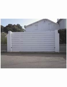 Portail 4 5 M Coulissant : portail pvc coulissant ile de r sur mesure ~ Edinachiropracticcenter.com Idées de Décoration