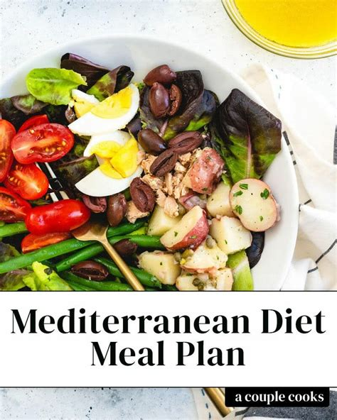 28 Day Mediterranean Diet Meal Plan A Couple Cooks