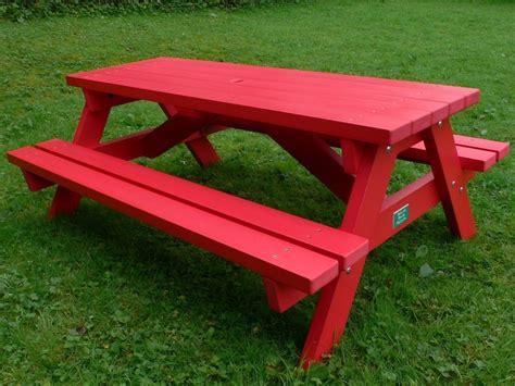 bench picnic table derwent recycled plastic picnic table picnic bench education