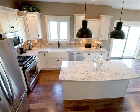small kitchen layouts with island l shaped kitchen layout with an arched overhang on the