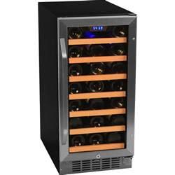 30 bottle built in undercounter wine refrigerator cooler