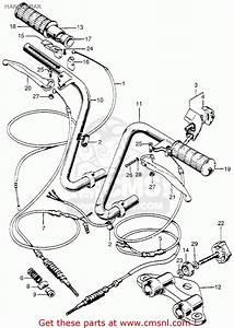 Honda Z50a Mini Trail 1968 Z50ak0 Usa Handlebar