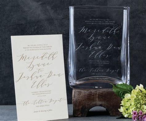 simon pearce engraved wedding invitation vase