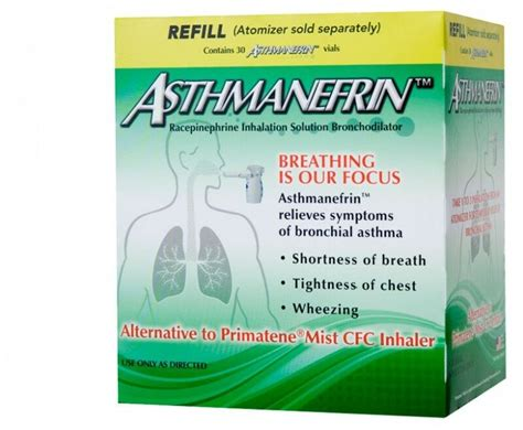 Asthmanefrin Asthma Medication Refill 30 Count Exp. Date
