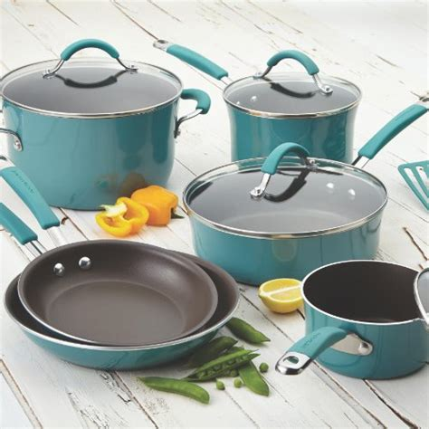 rachael cookware ray nonstick porcelain piece pans pots agave sets glass enamel cucina stoves pan giveaway kitchen hard ceramic cooktops