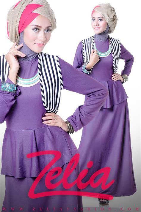 Zelia Gamis Dandelion Hitam Mg dandelion ungu baju muslim gamis modern