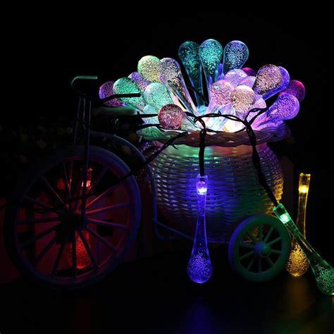 led decorative string lights 30 led 6 3m solar water drip light outdoor decorative waterproof l string gt ebay