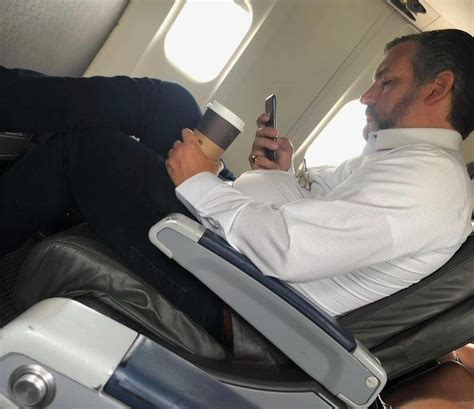 ted cruz caught  commercial flight  wearing  mask